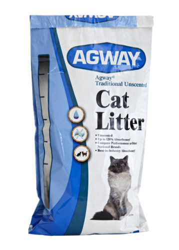 Agway Traditional Unscented Cat Litter 25 Lb