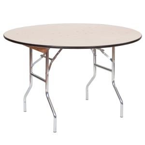 "PRE 48"" Round Wood Table"