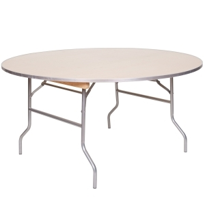 "PRE 60"" Round Metal Wood Table"
