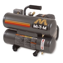 Mi-T-M Corp 2 HP 110V Twin Stack  Compressor, 4.1 CFM @ 100 PSI