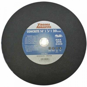 Virgina Abrasives Blades 14 x 1/8 x 20mm Abrasive Cut Off Wheels-Concrete