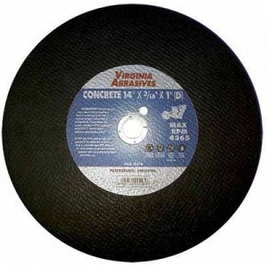 Virgina Abrasives Blades 14 x 3/16 x 1D Abrasive Cut Off Wheels-Concrete