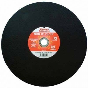 Virgina Abrasives Blades 12 x 3/32 x 1 Abrasive Chop Saw Wheels - Metal