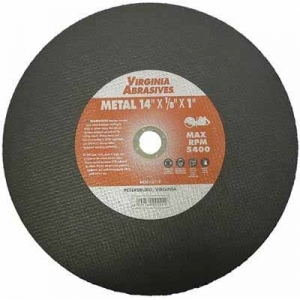 Virgina Abrasives Blades 14 x 1/8 x 20mm Abrasive Cut Off Wheels-Metal