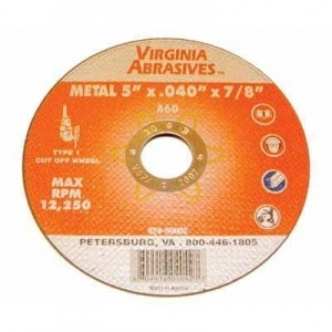 Virgina Abrasives Blades 4-1/2x.040x7/8 Abrasive Wheels Ultra Thin Metal