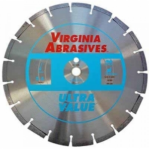 Virgina Abrasives Diamond 14x.110x1-20mm Ultra Value  High Speed Wet/Dry Asphalt