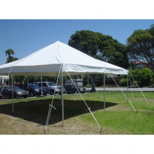 Aztec Tents ATC 20x20x7 Translucent White Canopy