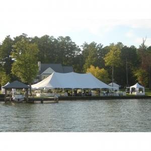 30x30 Tension Pole Tent ,White