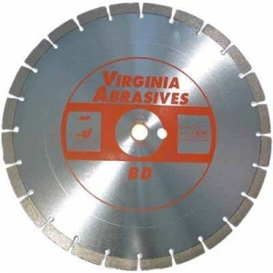 Virgina Abrasives Diamond 14x.125x1-20mm General Purpose Concrete B D blade