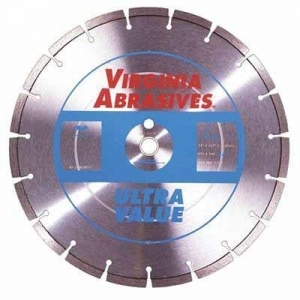 Virgina Abrasives Diamond 14x.125x1-20mm Ultra Value  High Speed Wet/Dry General Purpose Concrete