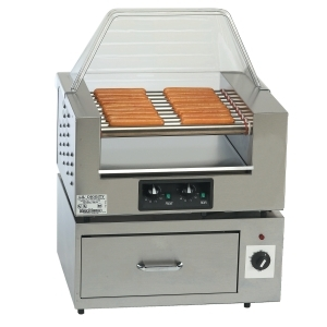Hot Dog Roller Grill and bun warmer