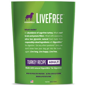 Dogswell® LiveFree® Turkey Dog Food