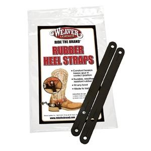 Weaver Leather Heel Straps Black Rubber