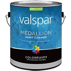 Valspar Medallion Paint & Primer, Flat Wall Finish