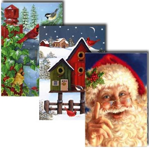 Assorted Christmas Flags