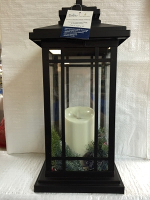 Bronze Holiday Luminara Candle Lantern, 16 inches