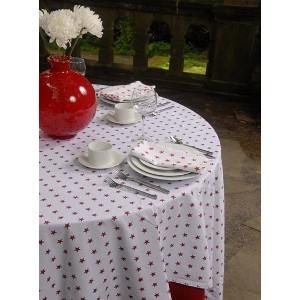 Star Print Table Linen