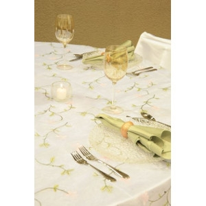 Pink Lily & Vine Organza Table Linen