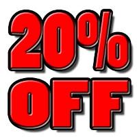 20% off One Item at Regular Retail Price
