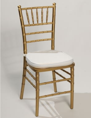 Gold Ballroom Chair w/Ivory padded seats