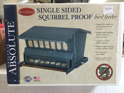 The Original Absolute, Single Sided Squirrel Proof Bird Feeder