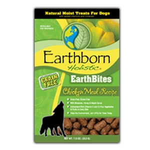Earthborn Holistic EarthBites Chicken Meal Recipe Natural Moist Treats For Dogs