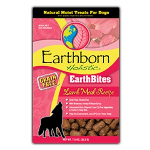 Earthborn Holistic EarthBites Lamb Meal Recipe Natural Moist Treats For Dogs