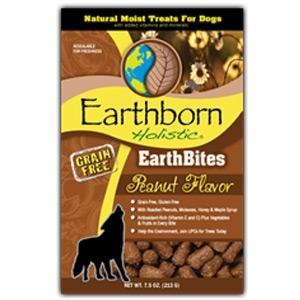 Earthborn Holistic EarthBites Peanut Flavor Natural Moist Treats For Dogs