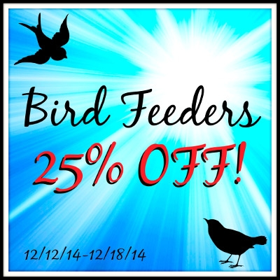 20% off Bird Feeders