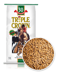 Triple Crown 30% Equine Supplement Horse Feed-50 lbs