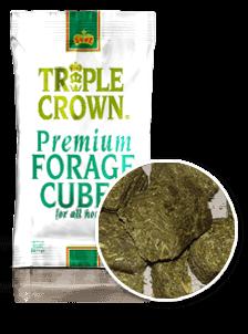 Triple Crown Premium Forage Cubes For Horse Feeding Supplementation-50 lbs