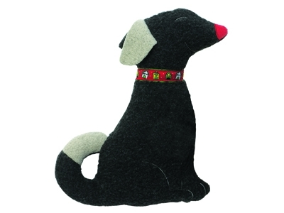 Sitting Dog Cuddle Toy- Christmas Collection