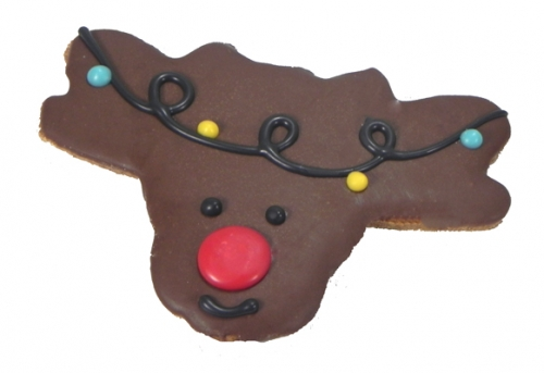 Rudolph with Lights Cookie