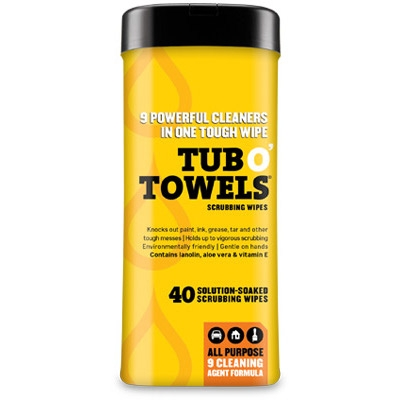 Tub O' Towels Multi-Purpose Wipes, 40-Count Tub