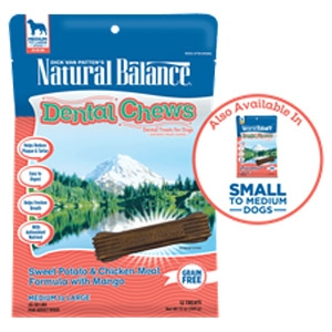 Dental Chews Sweet Potato & Chicken Meal Formula with Mango Dog Treats