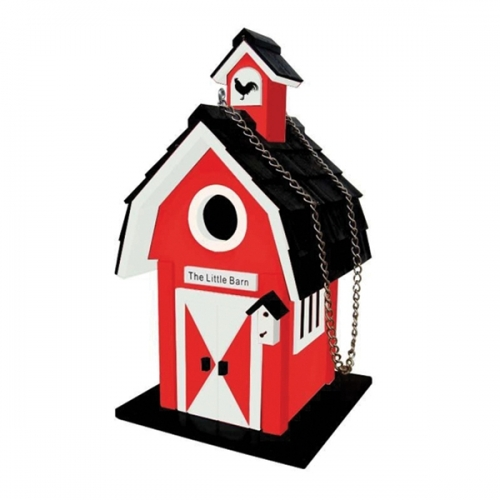 Home Bazaar Little Red Barn Birdhouse
