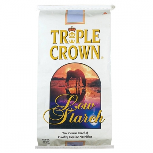 Triple Crown® Low Starch Pelleted Horse Feed