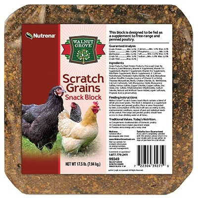 Nutrena Walnut Grove Scratch Grains Poultry Snack Block, 17lbs.