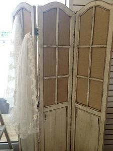 Room Divider, Rustic Burlap