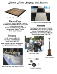 Dance Floor, Staging and Heaters
