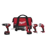 Milwaukee Tool M18 Cordless 4-Tool Kit