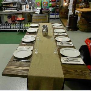 Chatfield Power, Wooden Farm Table