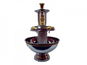 4.5 Stainless with gold trim fountain