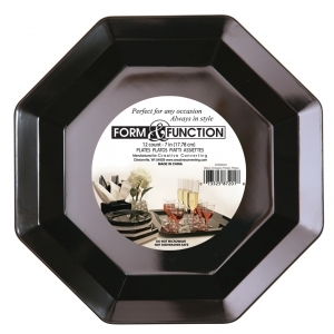 Creative Converting 10in Black Octy Plastic Plate