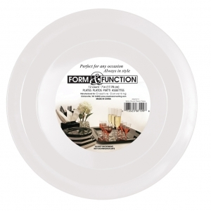 Creative Converting 10in White Round Plastic Plate