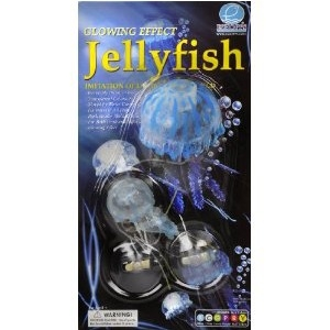 Floating Jellyfish Blue Clear