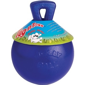 Tug-N-Toss Ball Blue 6 Inch