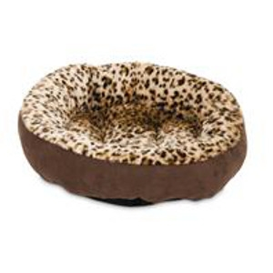 Round Bolister Bed With Animal Print