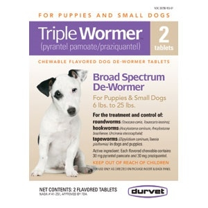 Triple Wormer Puppy & Small Dog 2Ct