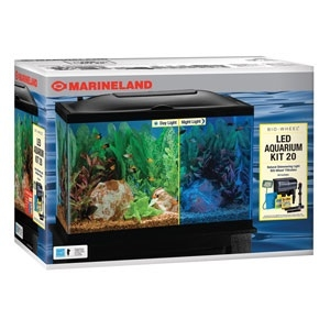 Bio-Wheel Glass LED Aquarium Kit 20 gal High